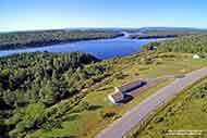 mobile home overlooking the Bras d'Or Lake on 1.52 acres sunny property with panoramic lake view for sale near Iona on Cape Breton Island, Nova Scotia