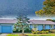 modern 4 BR Home on 1.06 acre with  161 ft waterfront at Mira River for sale on Cape Breton Island